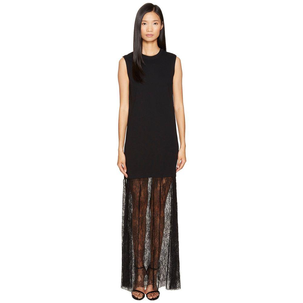 マックイーン レディース ワンピース・ドレス ワンピース【Lace Mix Maxi Dress】Darkest Black