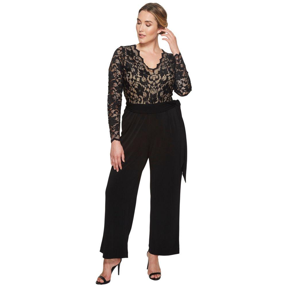 カレンケーン レディース ワンピース・ドレス オールインワン【Plus Size Scallop Lace Palazzo Jumpsuit】Black