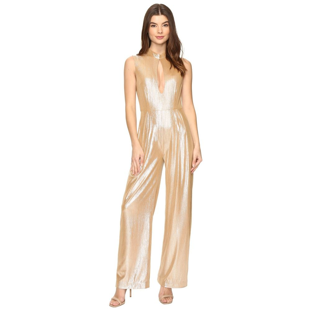レイチェル アントノフ レディース ワンピース・ドレス オールインワン【Stacy Plunge Jumpsuit】Champagne Shimmer