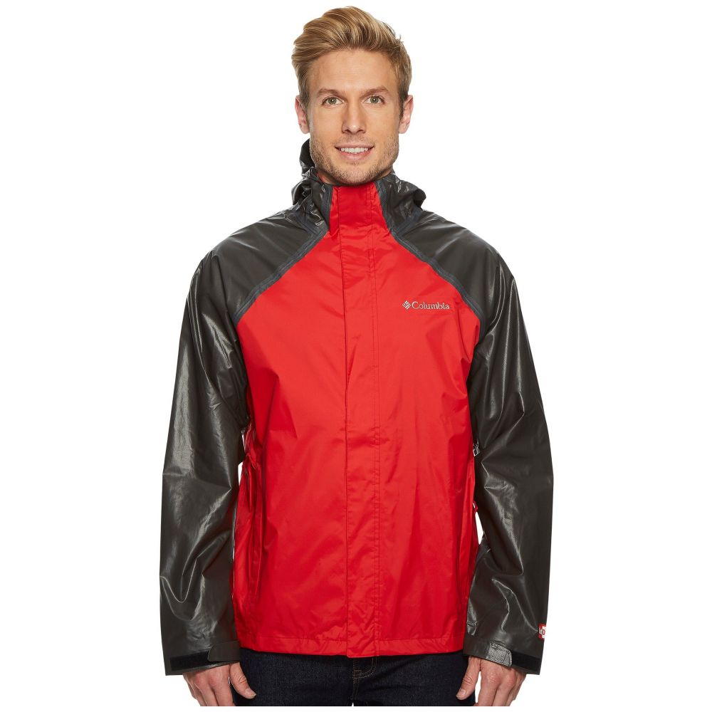 コロンビア Columbia メンズ アウター レインコート【OutDry Hybrid Jacket】Red Spark/Black