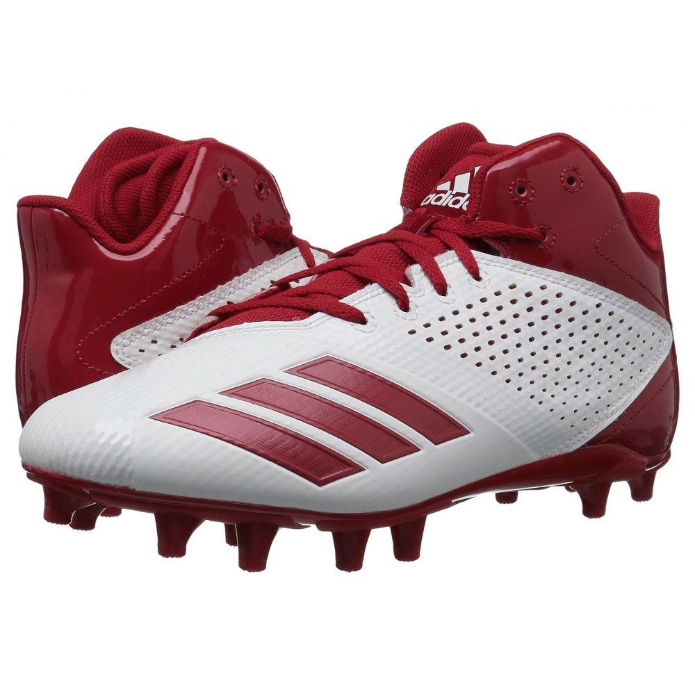アディダス adidas メンズ アメリカンフットボール シューズ・靴【5-Star Mid Football】Core Black/Power Red/Power Red
