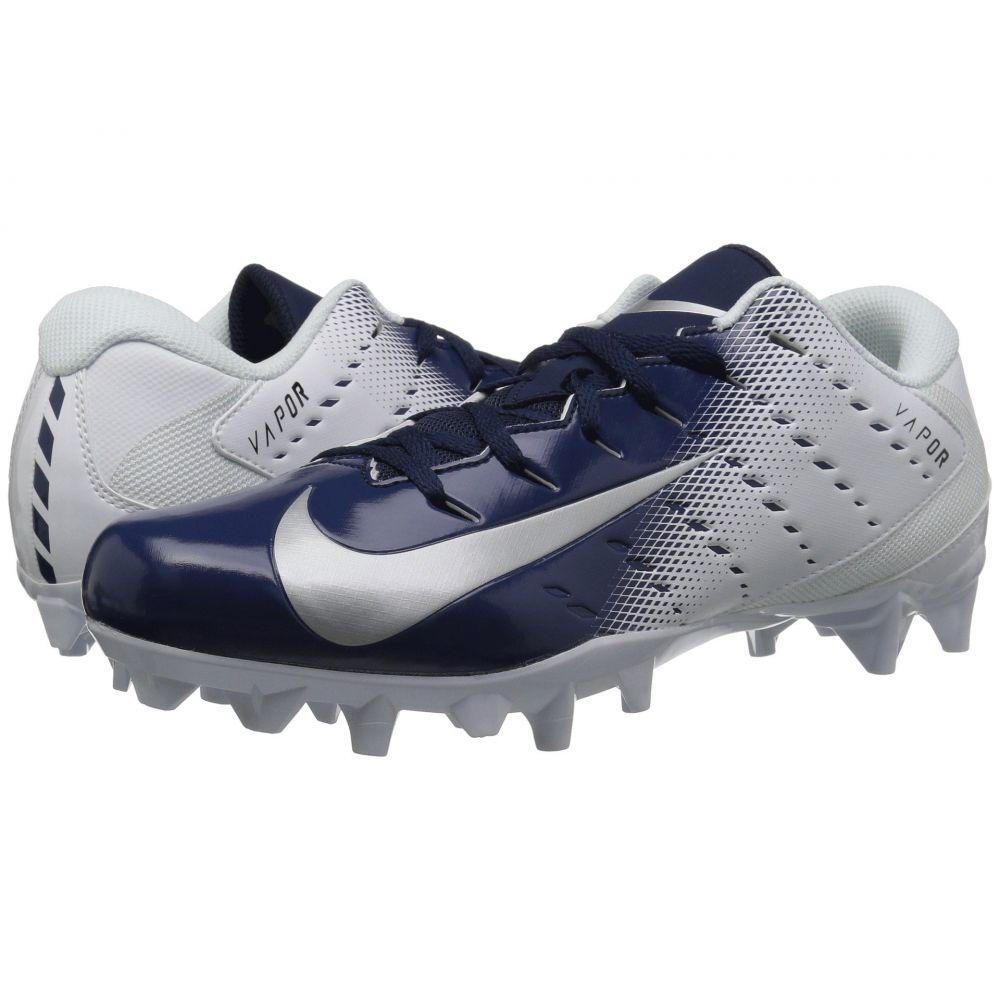 ナイキ Nike メンズ アメリカンフットボール シューズ・靴【Vapor Varsity 3 TD】White/Metallic Silver/College Navy/Black