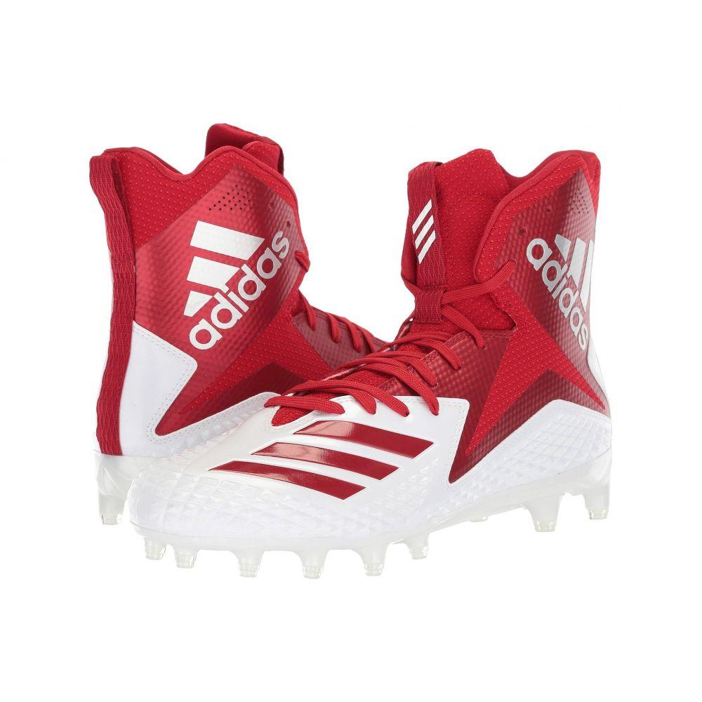 アディダス adidas メンズ アメリカンフットボール シューズ・靴【Freak x Carbon High】Footwear White/Power Red/Power Red