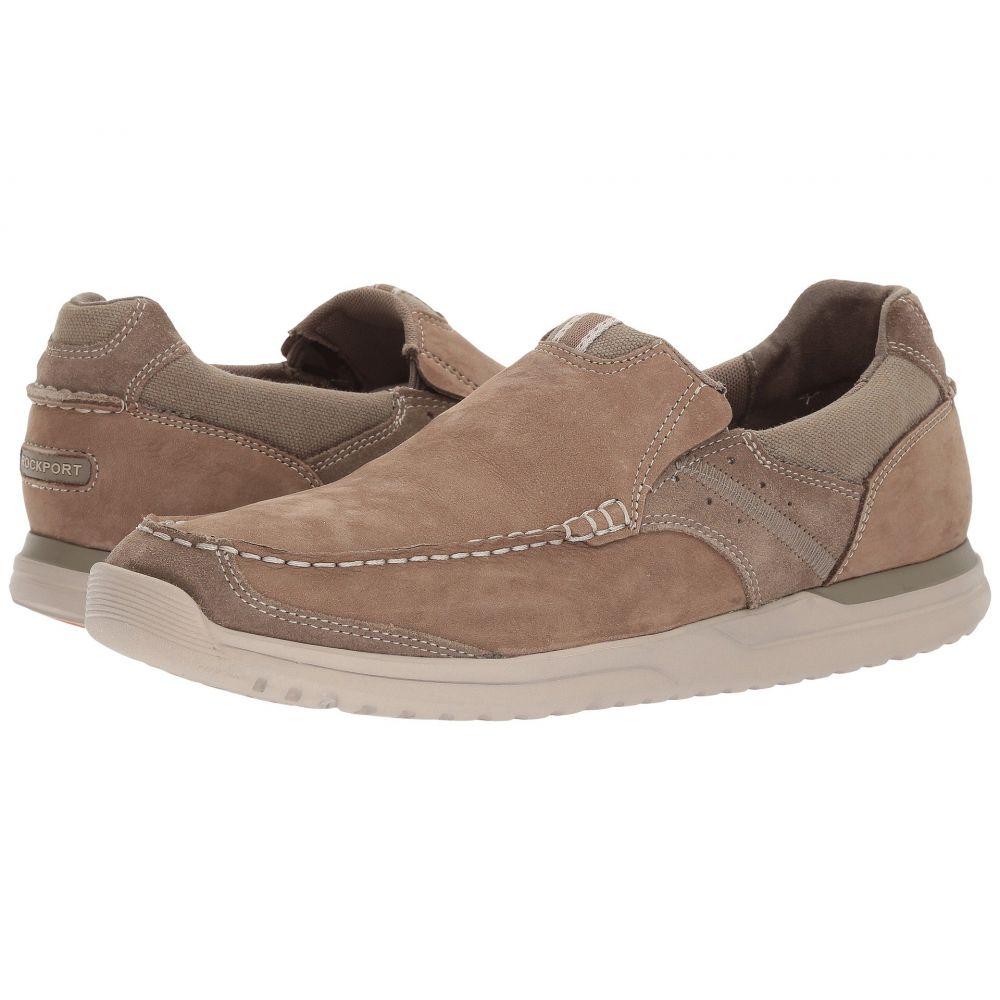 ロックポート Rockport メンズ シューズ・靴 スリッポン・フラット【Langdon Slip-On】Taupe Nnbuck