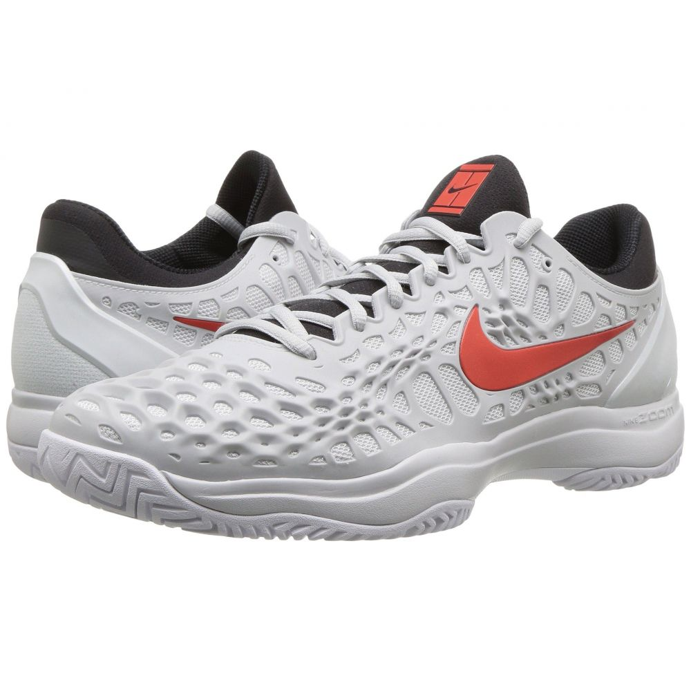 ナイキ Nike メンズ テニス シューズ・靴【Zoom Cage 3 HC】Pure Platinum/Habanero Red/Black/White