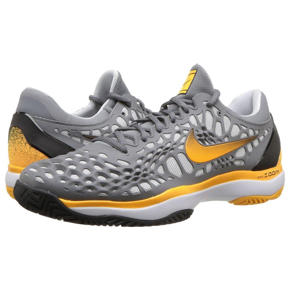 ナイキ Nike メンズ テニス シューズ・靴【Zoom Cage 3 HC】Cool Grey/Laser Orange/Black/White