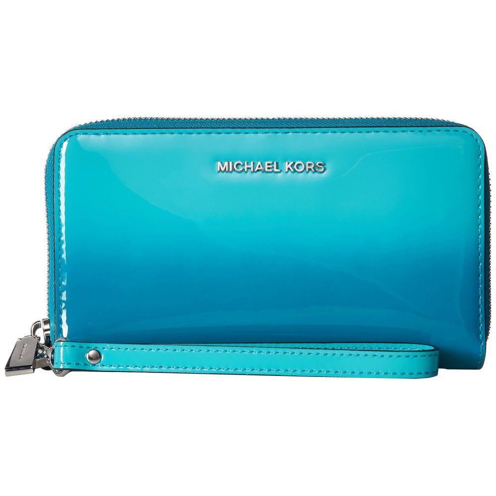 マイケル コース MICHAEL Michael Kors レディース スマホケース【Large Flat Multifunction Phone Case】Tile Blue 1