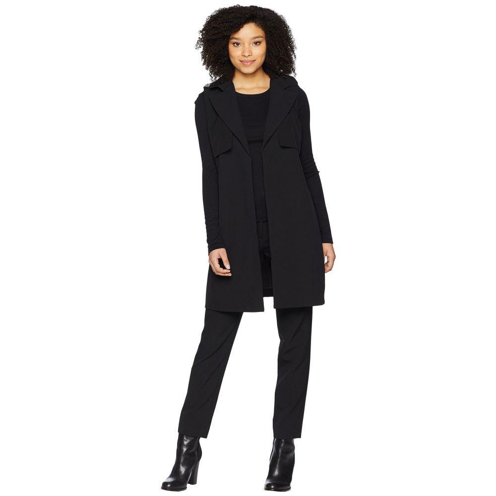 カルバンクライン Calvin Klein レディース トップス ベスト・ジレ【Long Vest w/ Tie Belt】Black