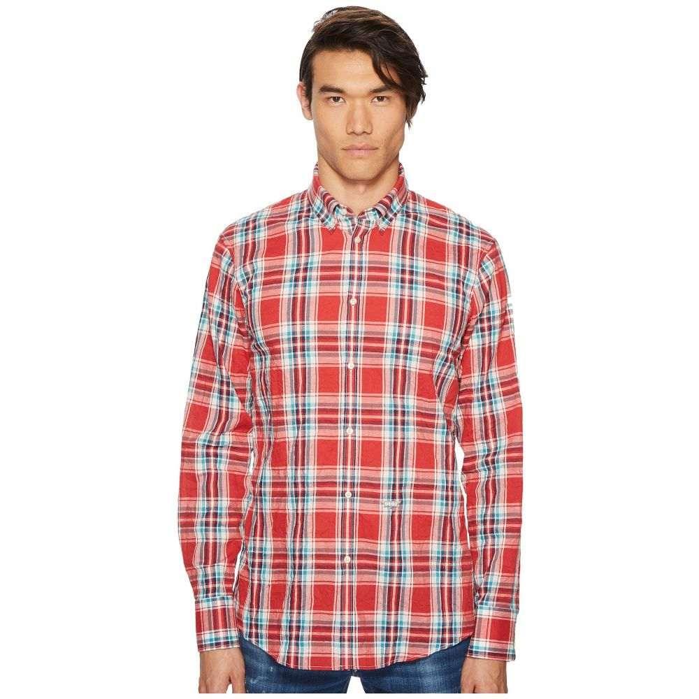 ディースクエアード DSQUARED2 メンズ トップス シャツ【Plaid Shirt】Red/Blue/White