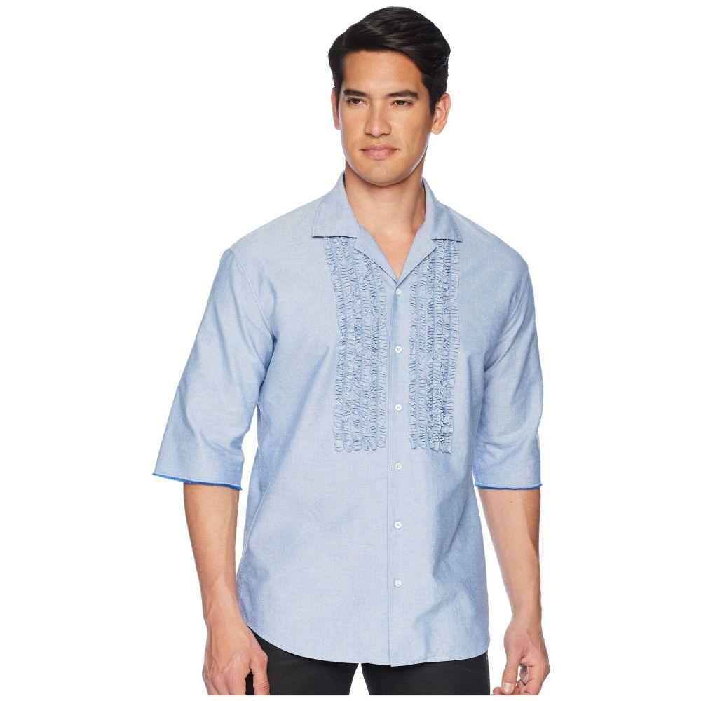 ディースクエアード DSQUARED2 メンズ トップス シャツ【Ruffled Roll Up Shirt】Blue
