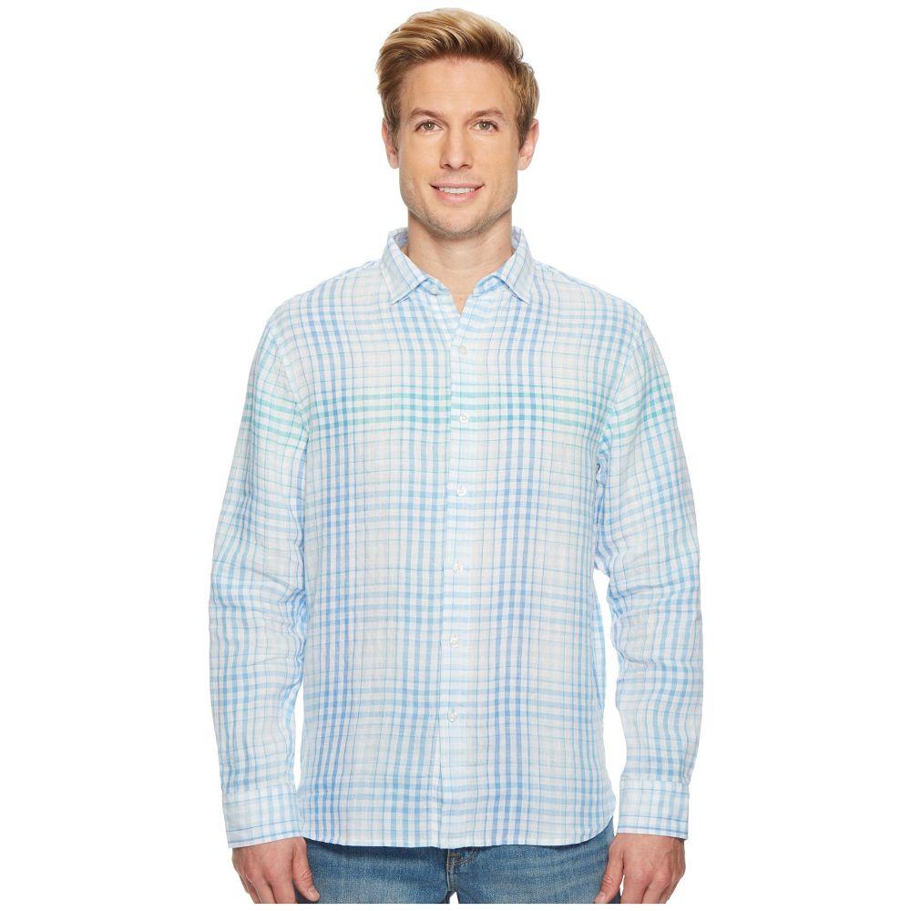 トミー バハマ Tommy Bahama メンズ トップス シャツ【Malahina Plaid Linen Shirt】Blue Canal