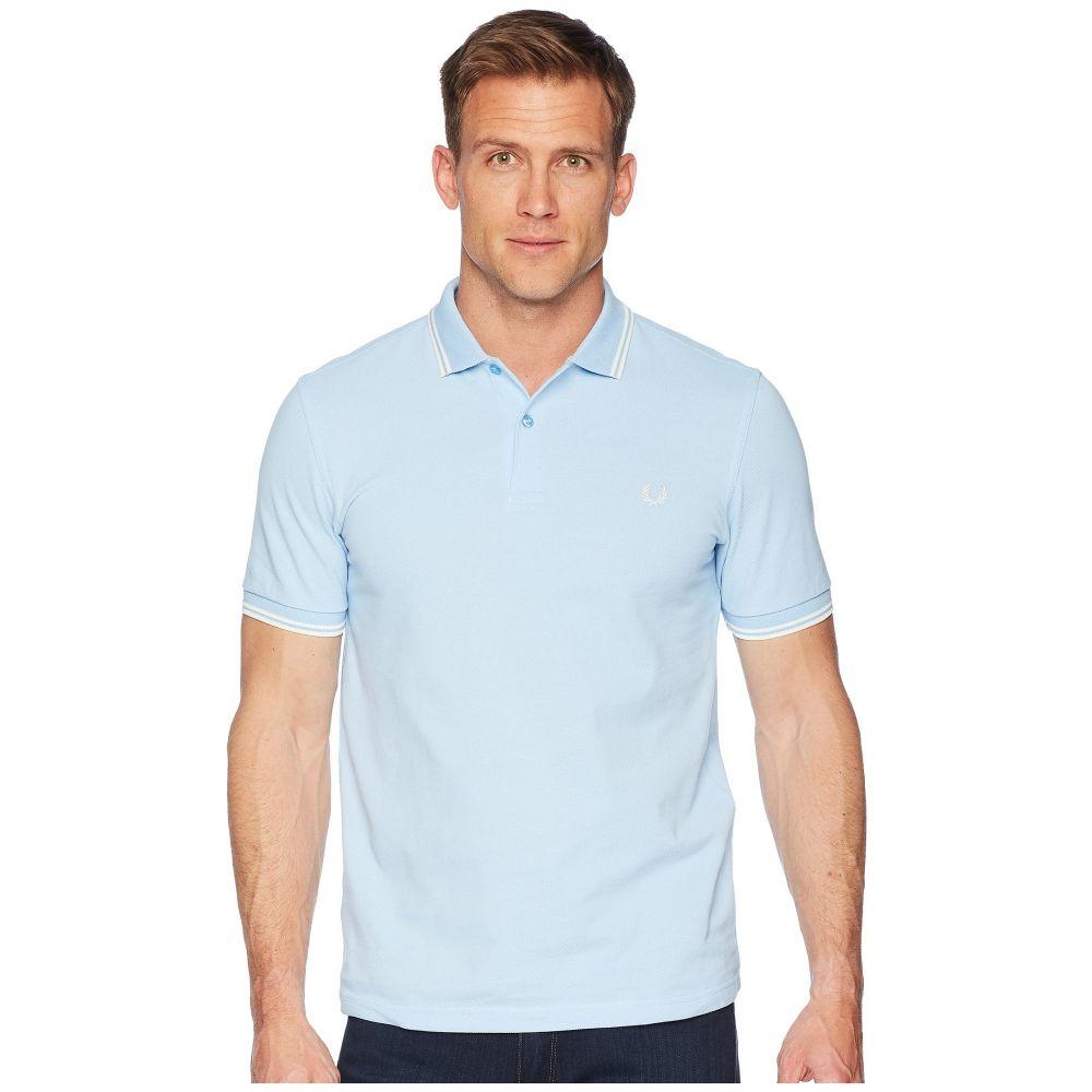 フレッドペリー Fred Perry メンズ トップス ポロシャツ【Twin Tipped Shirt】Sky Blue Ecru