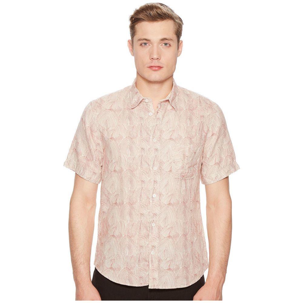 ビリー レイド Billy Reid メンズ トップス 半袖シャツ【Short Sleeve Martin Shirt】Cream/Red