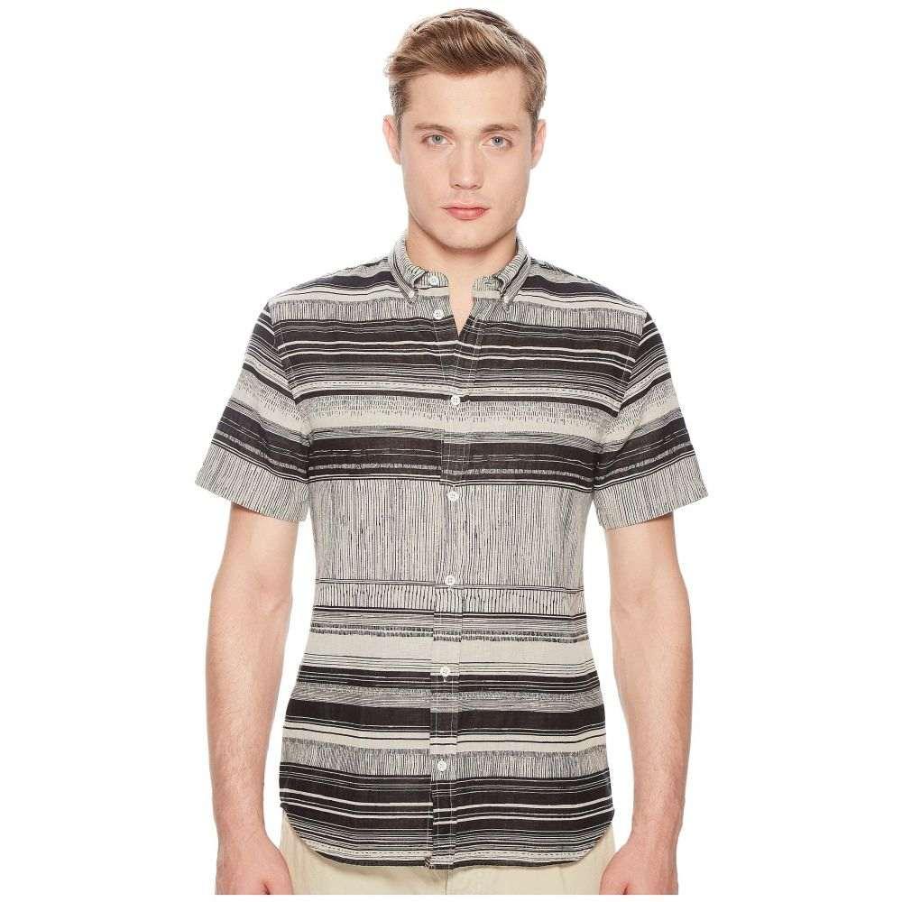 ビリー レイド Billy Reid メンズ トップス 半袖シャツ【Short Sleeve Murphy Shirt】Black/White