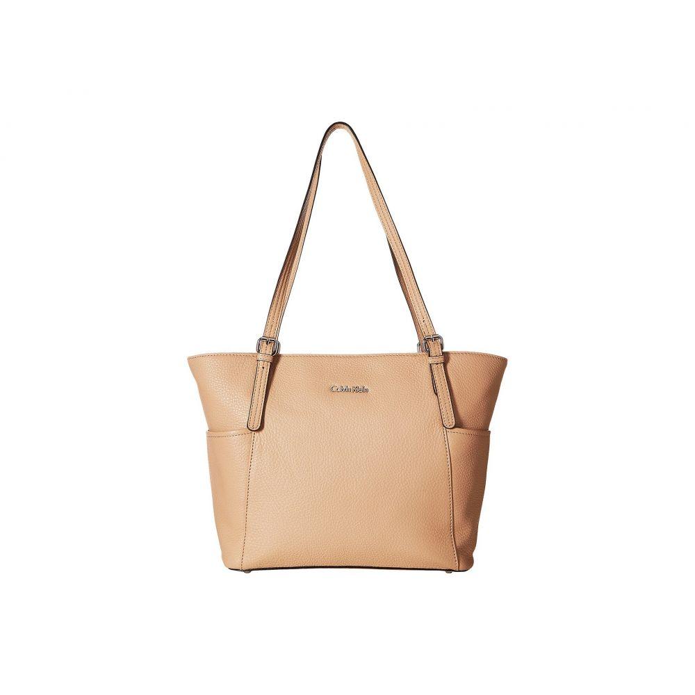 カルバンクライン Calvin Klein レディース バッグ トートバッグ【Pebble Leather Tote】Oatmeal