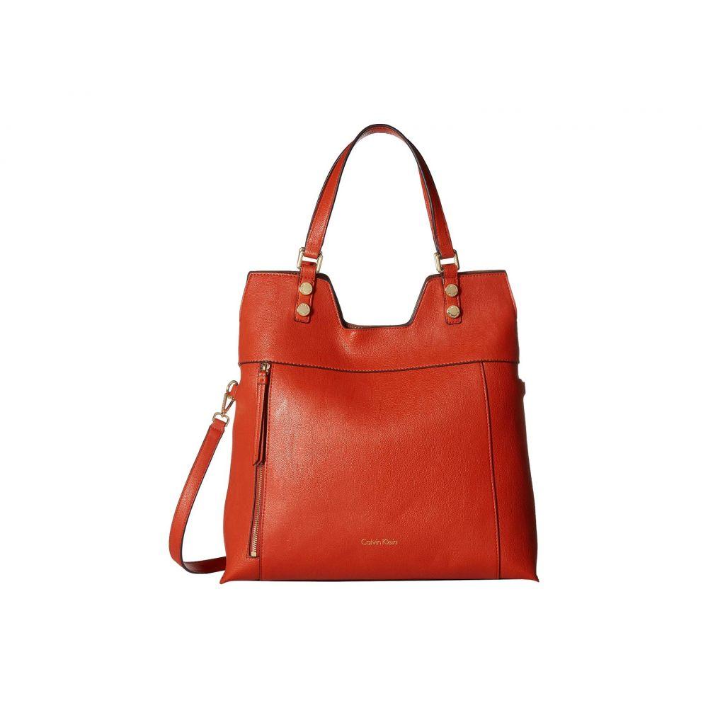 カルバンクライン Calvin Klein レディース バッグ トートバッグ【Pebble Tote】Dark Orange/Luggage