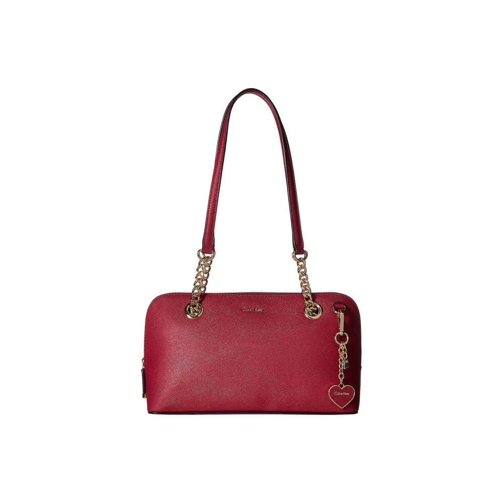 カルバンクライン Calvin Klein レディース バッグ ハンドバッグ【Saffiano Leather Satchel】Pomegranate