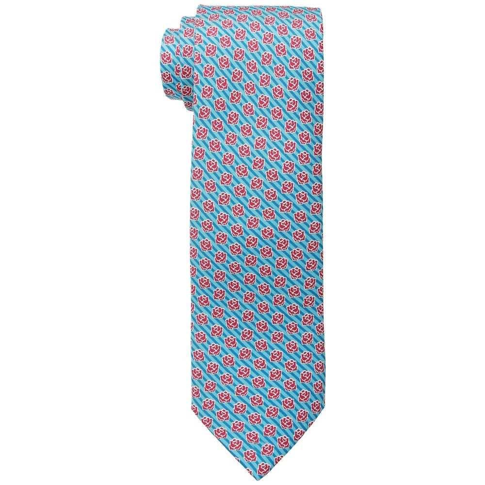 ヴィニヤードヴァインズ Vineyard Vines メンズ ネクタイ【Kentucky Derby Printed Tie - Rose Stripe】Turquoise