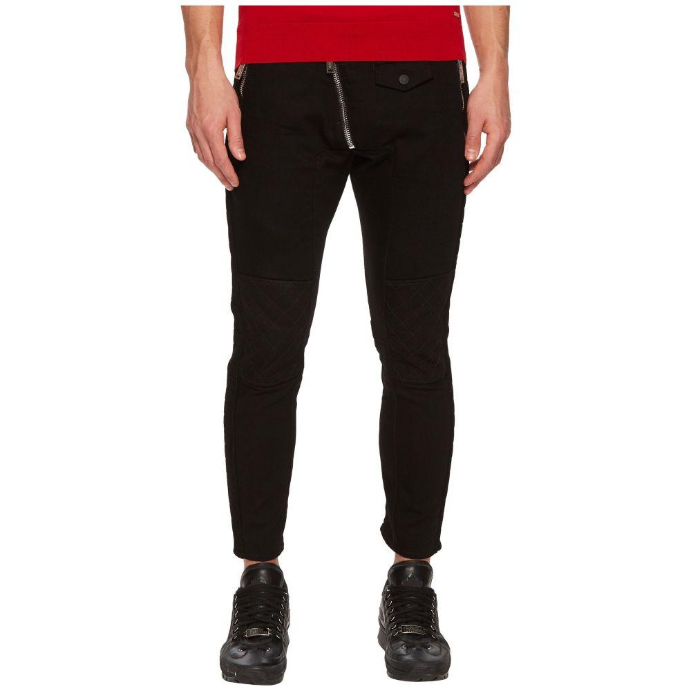 ディースクエアード DSQUARED2 メンズ ボトムス・パンツ ジーンズ・デニム【Leather Biker Fit Jeans】Black