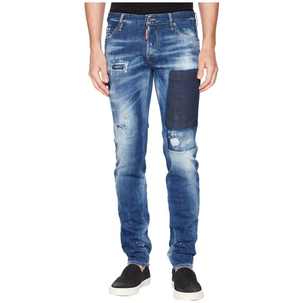 ディースクエアード DSQUARED2 メンズ ボトムス・パンツ ジーンズ・デニム【Slim Jean】Blue Patch Wash