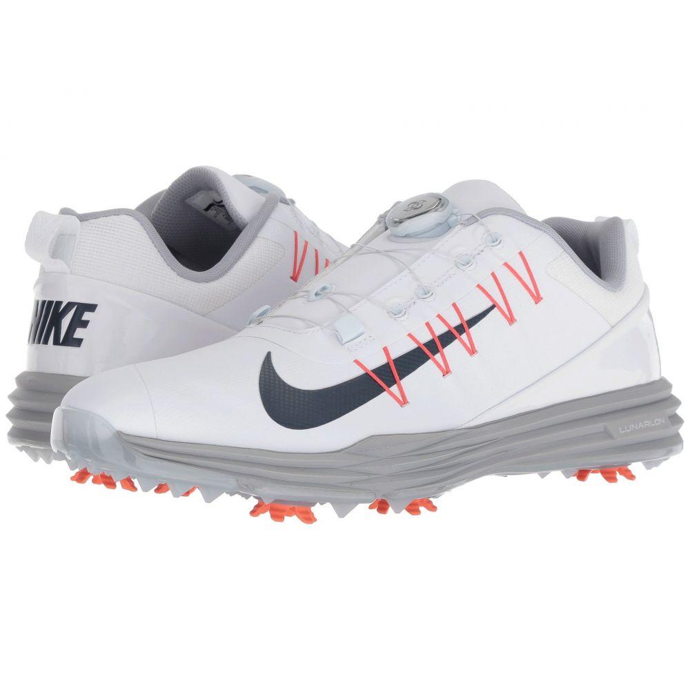 ナイキ Nike Golf メンズ ゴルフ シューズ・靴【Lunar Command 2 BOA】White/Thunder Blue/Wolf Grey/Rush Coral