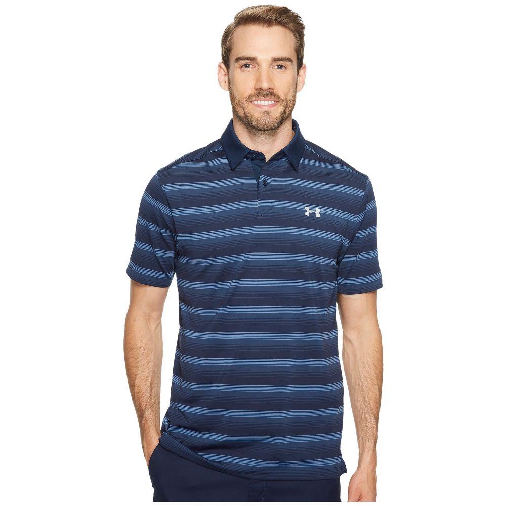 アンダーアーマー Under Armour Golf メンズ ゴルフ トップス【Coolswitch Bermuda Stripe】Academy/Overcast Gray