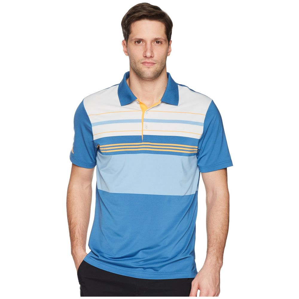 アディダス adidas Golf メンズ ゴルフ トップス【Ultimate Engineered Blocked Polo】Trace Royal/Real Gold