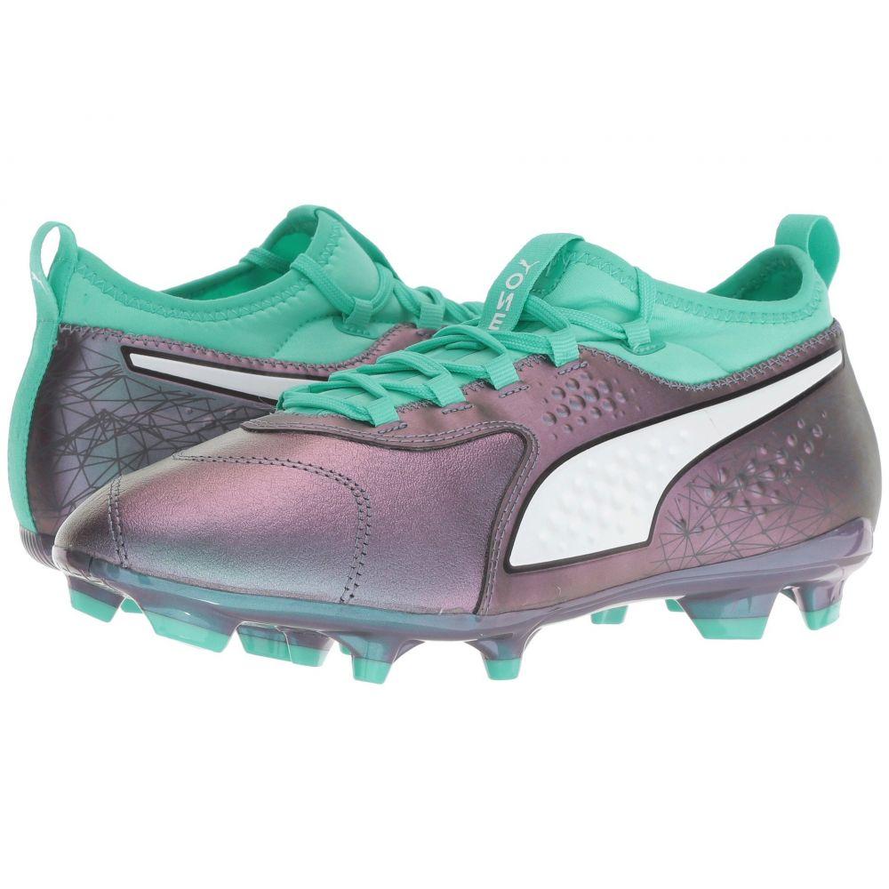 プーマ PUMA メンズ サッカー シューズ・靴【One 3 IL Leather FG】Color Shift/Biscay Green/Puma White/Puma Black