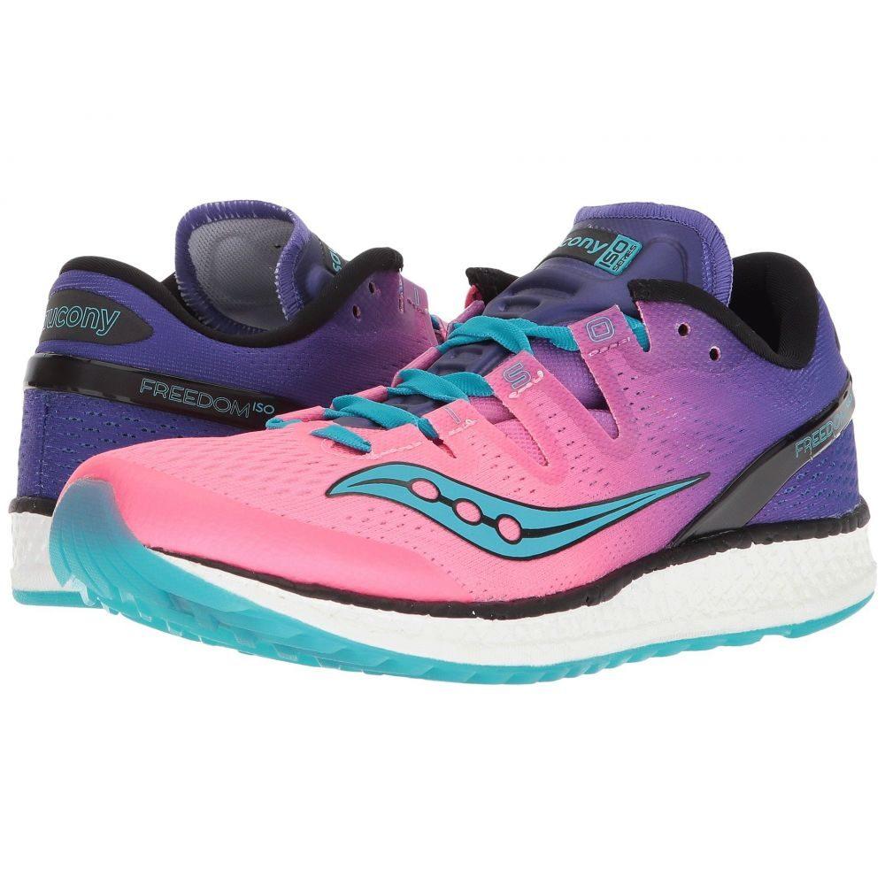 サッカニー Saucony レディース ランニング・ウォーキング シューズ・靴【Freedom ISO】Pink/Purple/Teal