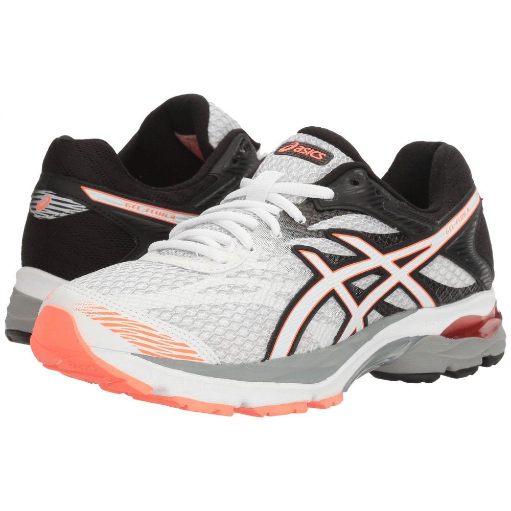 アシックス ASICS レディース ランニング・ウォーキング シューズ・靴【GEL-Flux 4】White/Snow/Flash Coral