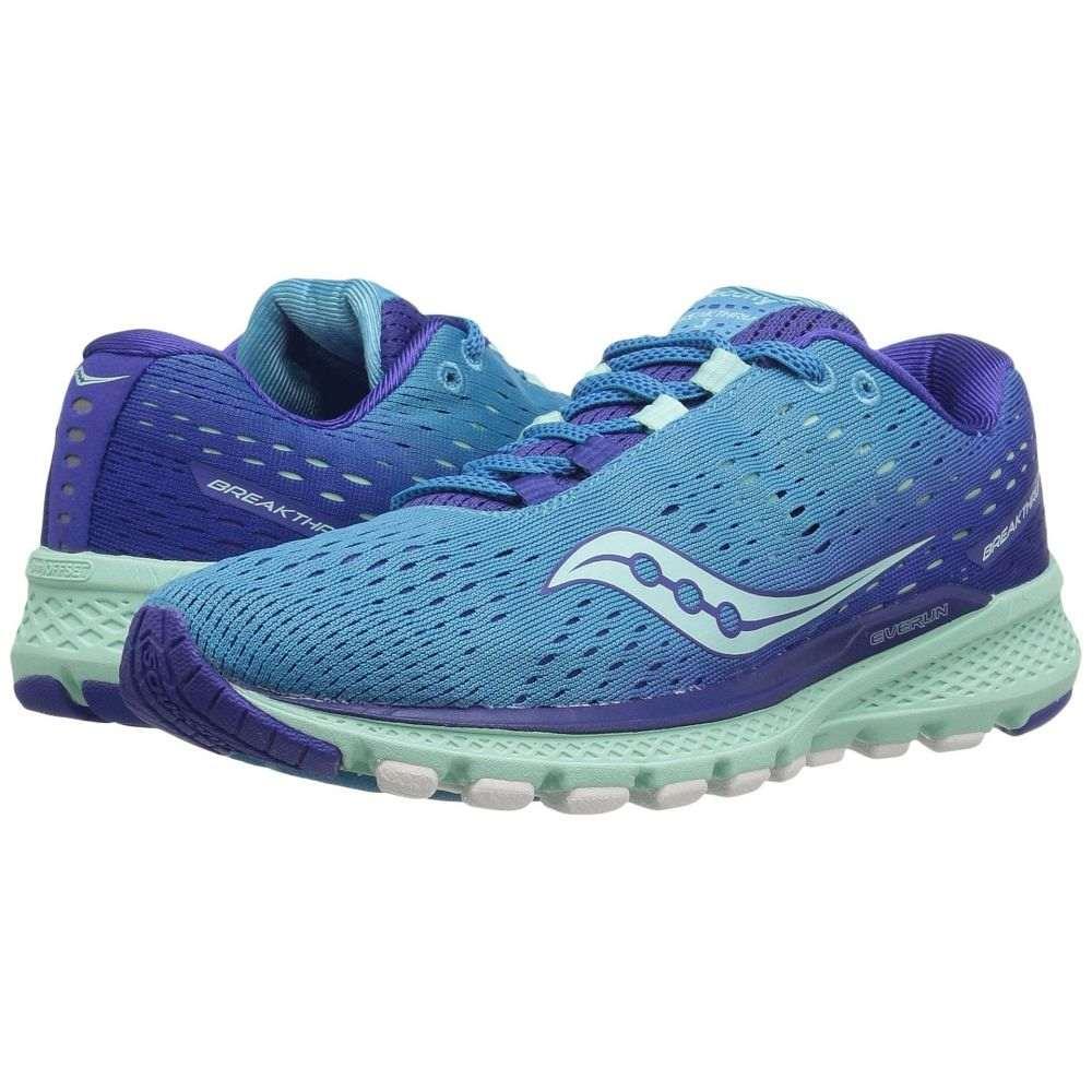 サッカニー Saucony レディース ランニング・ウォーキング シューズ・靴【Breakthru 3】Blue/Mint