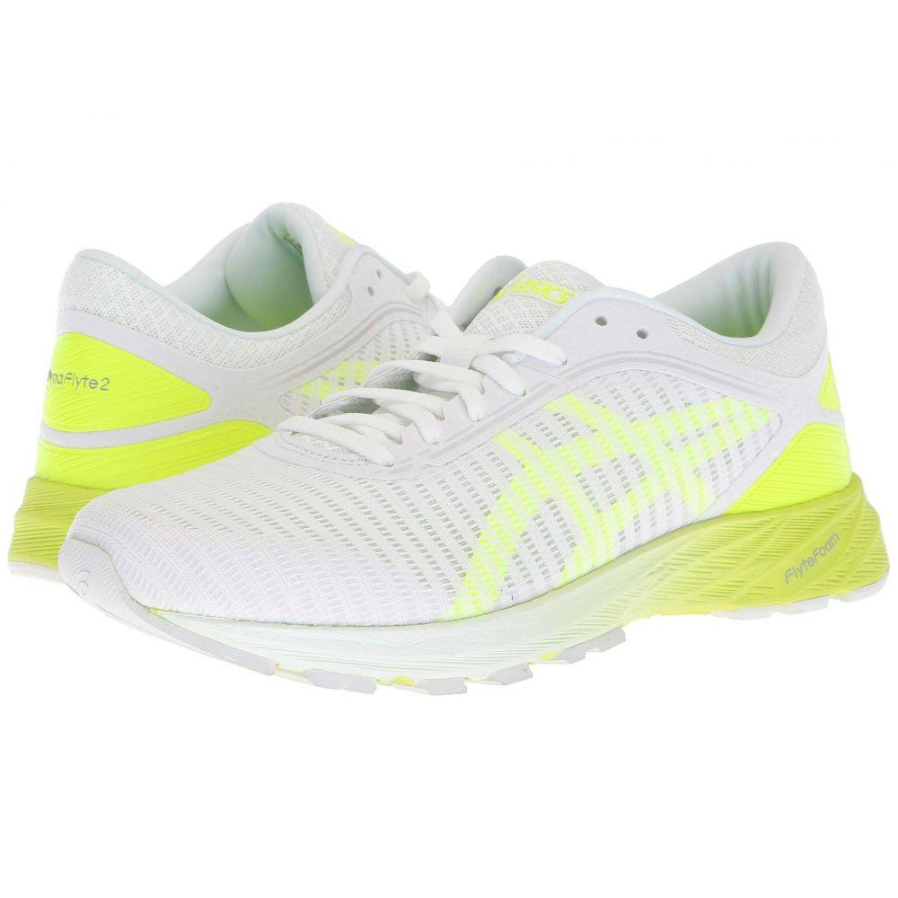 アシックス ASICS レディース ランニング・ウォーキング シューズ・靴【DynaFlyte 2】White/Yellow/Aruba Blue