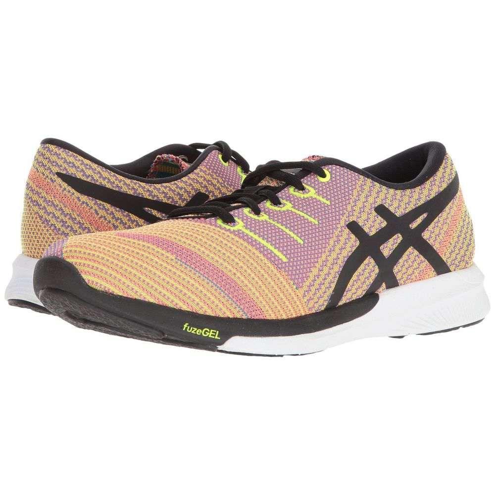 アシックス ASICS レディース ランニング・ウォーキング シューズ・靴【fuzeX Knit】Flash Coral/Black/Safety Yellow