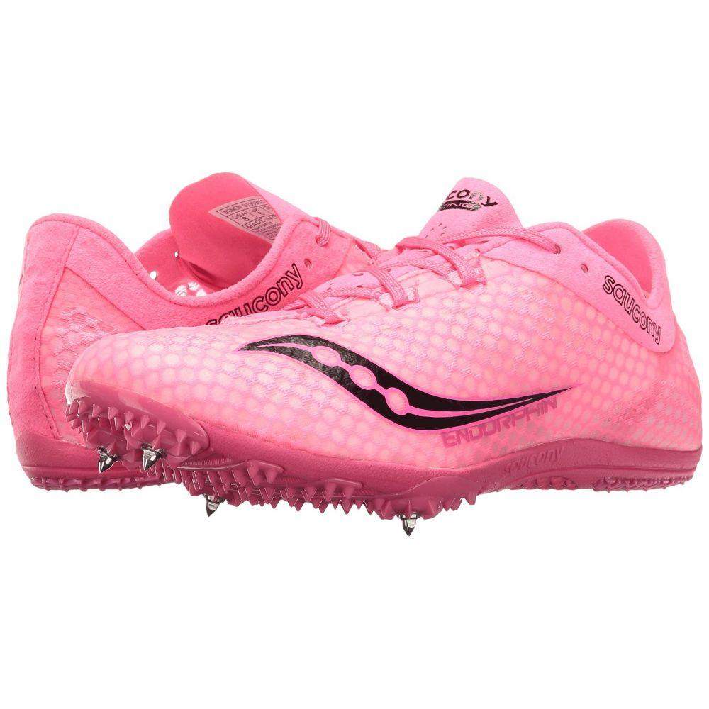 サッカニー Saucony レディース ランニング・ウォーキング シューズ・靴【Endorphin】Pink/Black