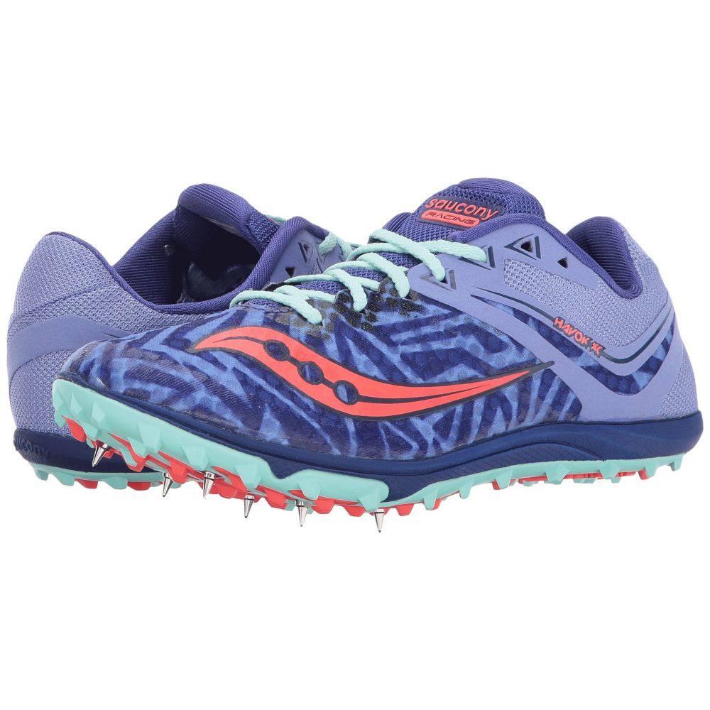 サッカニー Saucony レディース ランニング・ウォーキング シューズ・靴【Havok XC Spike】Lavender/Vizi Red