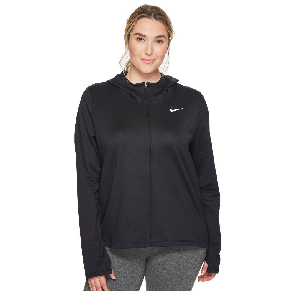 ナイキ Nike レディース ランニング・ウォーキング トップス【Therma Full-Zip Running Hoodie (Size 1X-3X)】Black