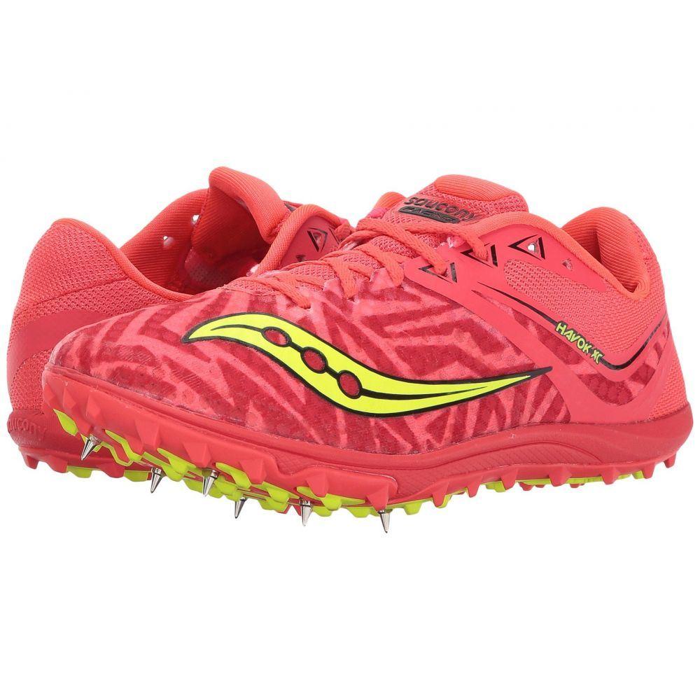 サッカニー Saucony レディース ランニング・ウォーキング シューズ・靴【Havok XC Spike】Vizi Red/Citron