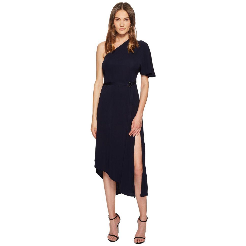イーガル アズローエル YIGAL AZROUEL レディース ワンピース・ドレス ワンピース【Matte Jersey One Shoulder Asymmetric Dress】Night