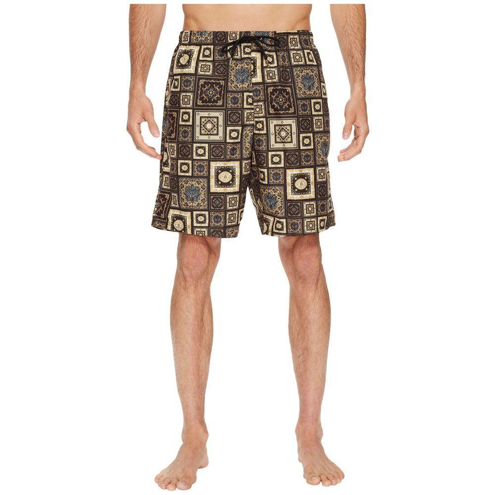 ヴェルサーチ Versace メンズ 水着・ビーチウェア 海パン【Printed Beach Long Shorts】Black/Gold