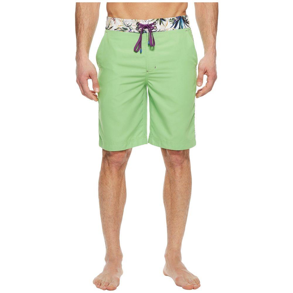 ロバートグラハム Robert Graham メンズ 水着・ビーチウェア 海パン【Dos Rios Woven Swim Boardshorts】Green
