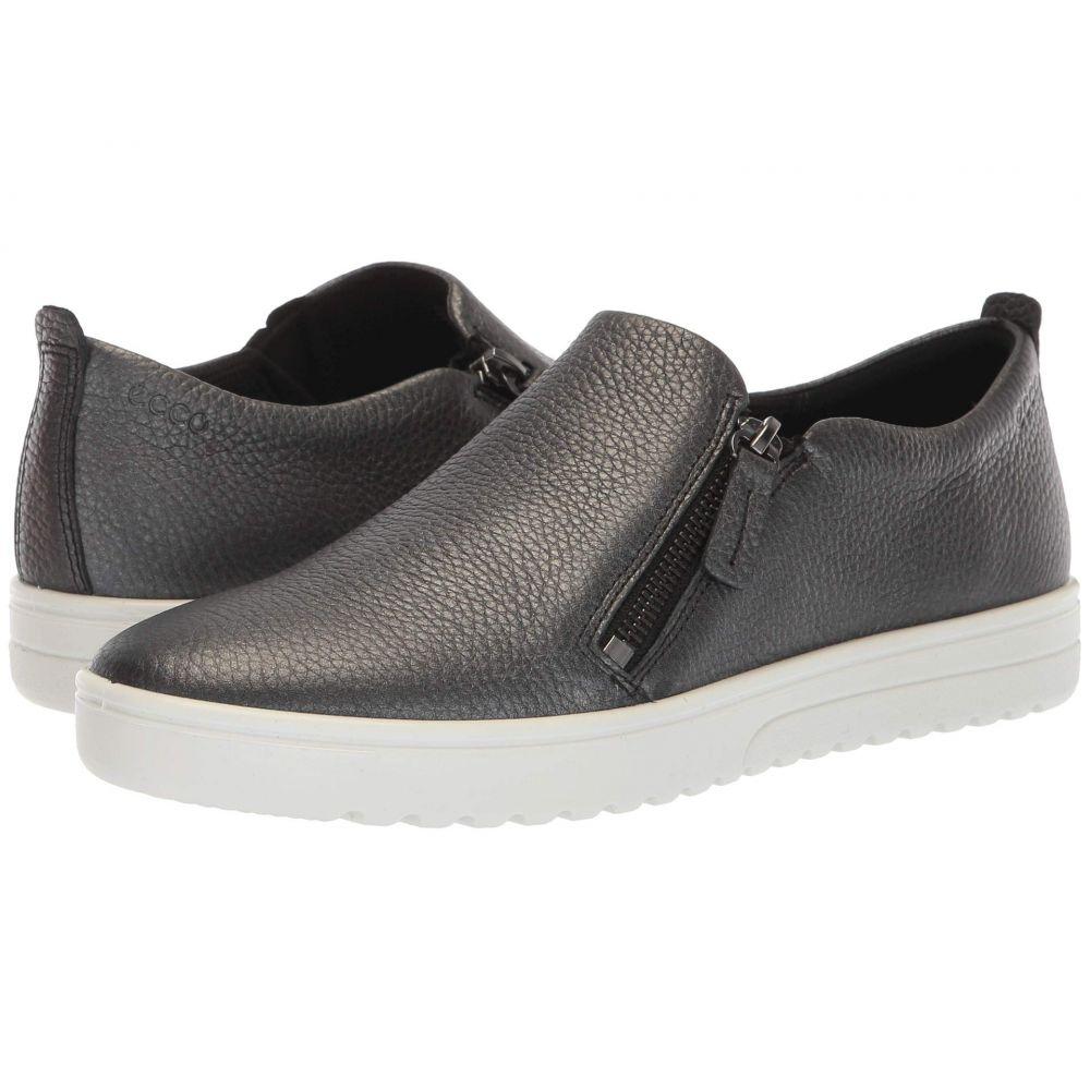 エコー ECCO レディース シューズ・靴 スニーカー【Fara Zip】Black/Dark Silver Cow Leather/Cow Leather