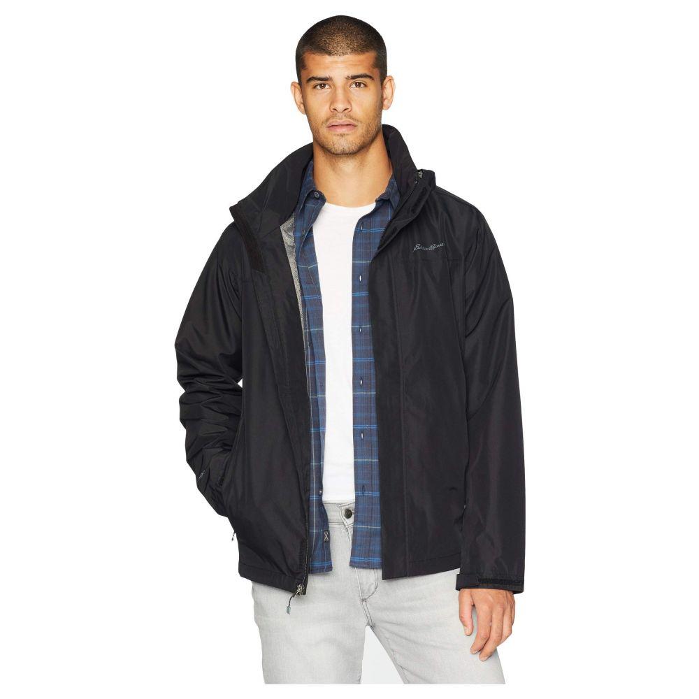 エディー バウアー Eddie Bauer メンズ アウター レインコート【Packable Rainfoil Jacket】Black