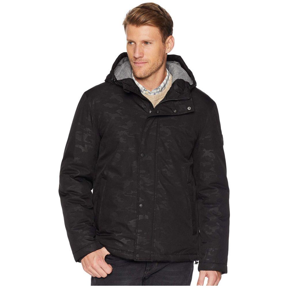 コールハーン Cole Haan メンズ アウター レインコート【Oxford Rain Zip Front Jacket】Black Camo