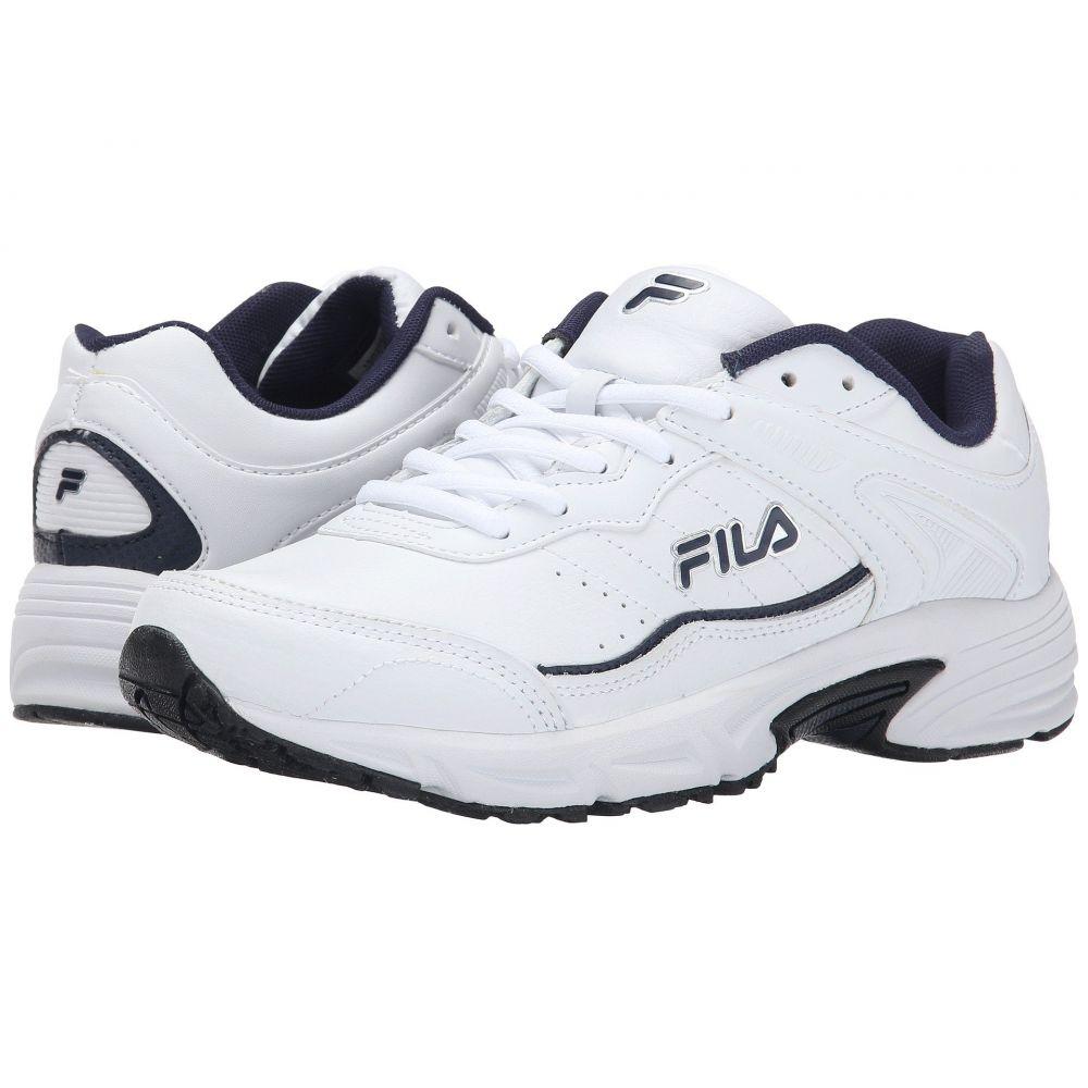 フィラ Fila メンズ ランニング・ウォーキング シューズ・靴【Memory Sportland】White/Fila Navy/Metallic Silver