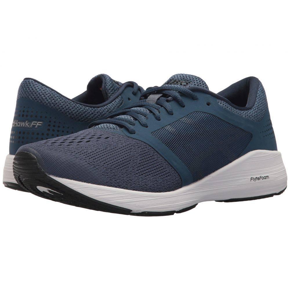 アシックス ASICS メンズ ランニング・ウォーキング シューズ・靴【RoadHawk FF】Dark Blue/Black/White