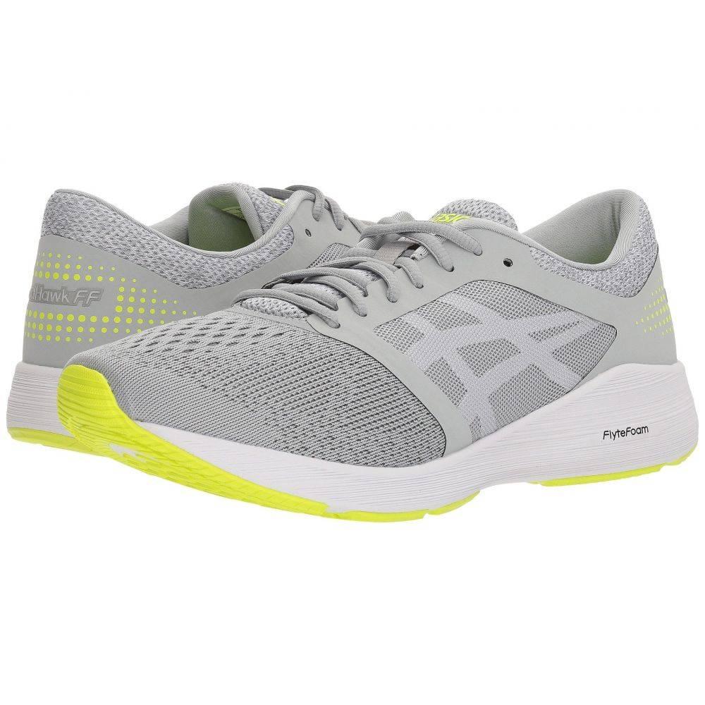 アシックス ASICS メンズ ランニング・ウォーキング シューズ・靴【RoadHawk FF】Mid Grey/White/Safety Yellow