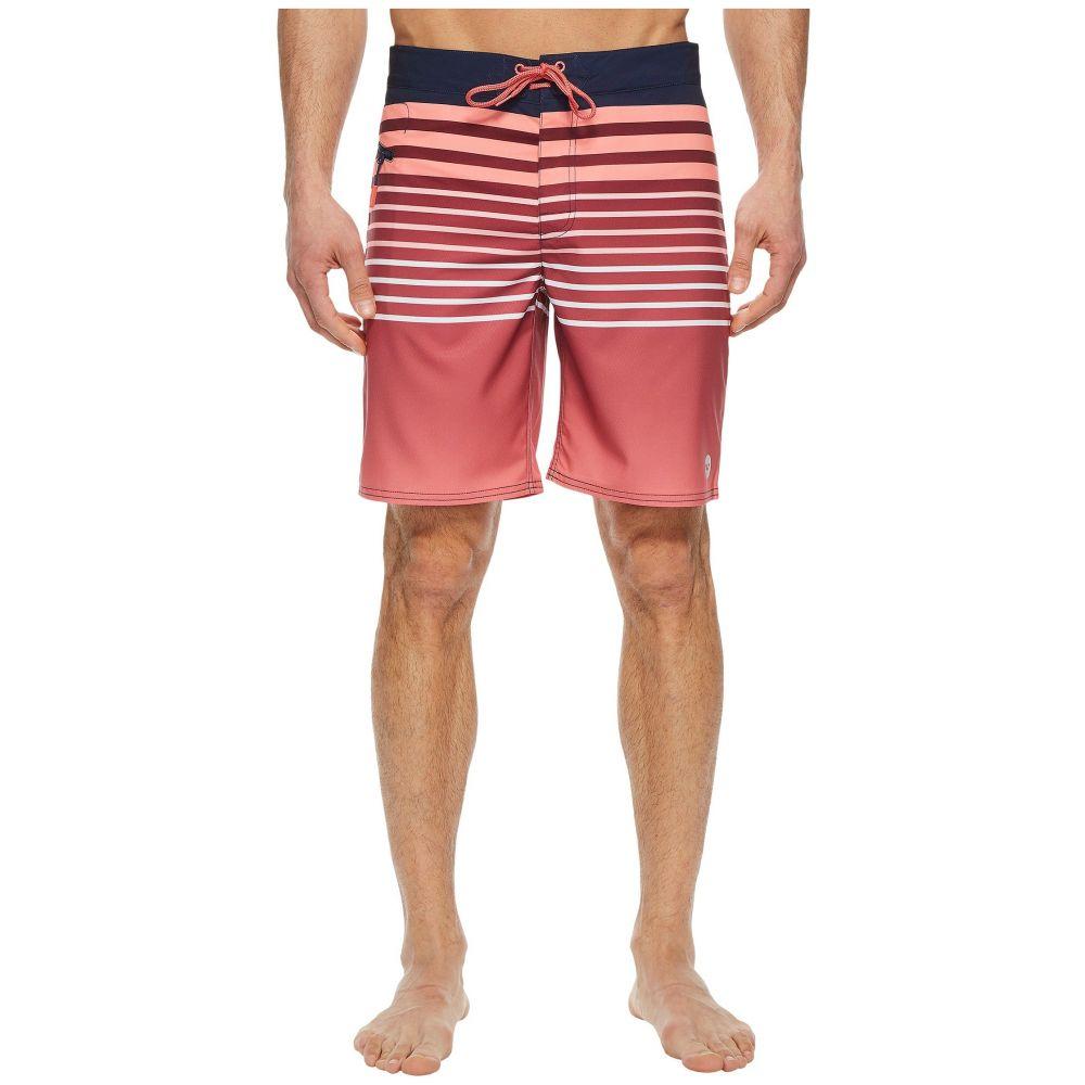 ヴィニヤードヴァインズ Vineyard Vines メンズ 水着・ビーチウェア 海パン【Surflodge Stripe Boardshorts】Jetty Red