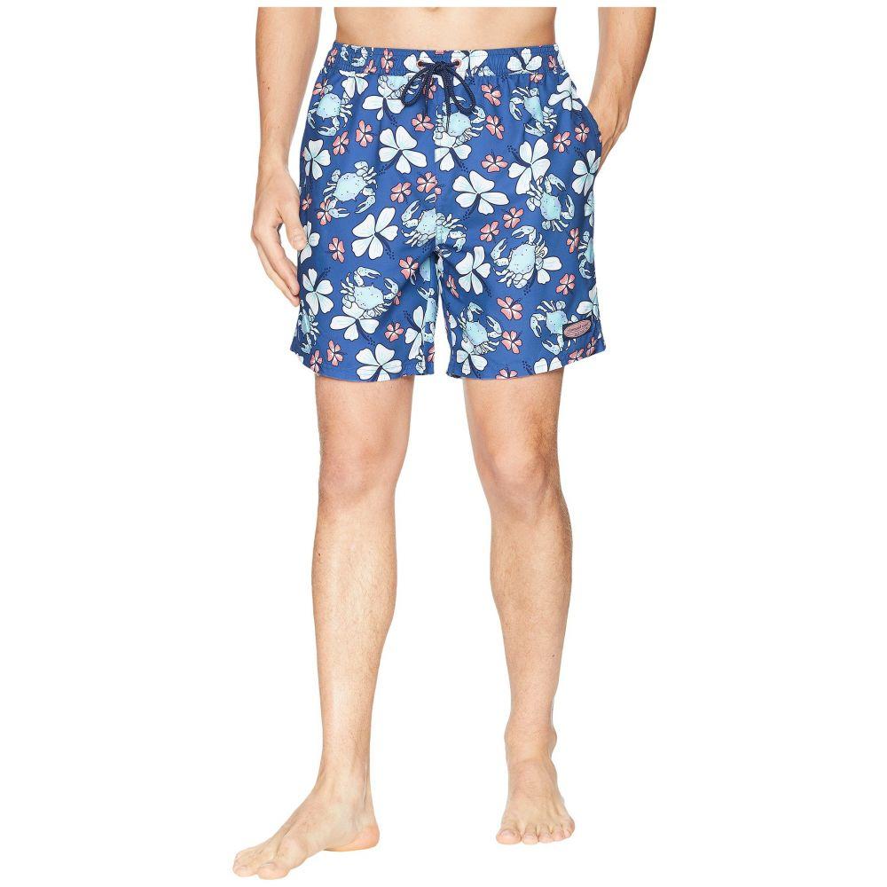ヴィニヤードヴァインズ Vineyard Vines メンズ 水着・ビーチウェア 海パン【Crab Floral Chappy Swim Trunks】Yacht Blue