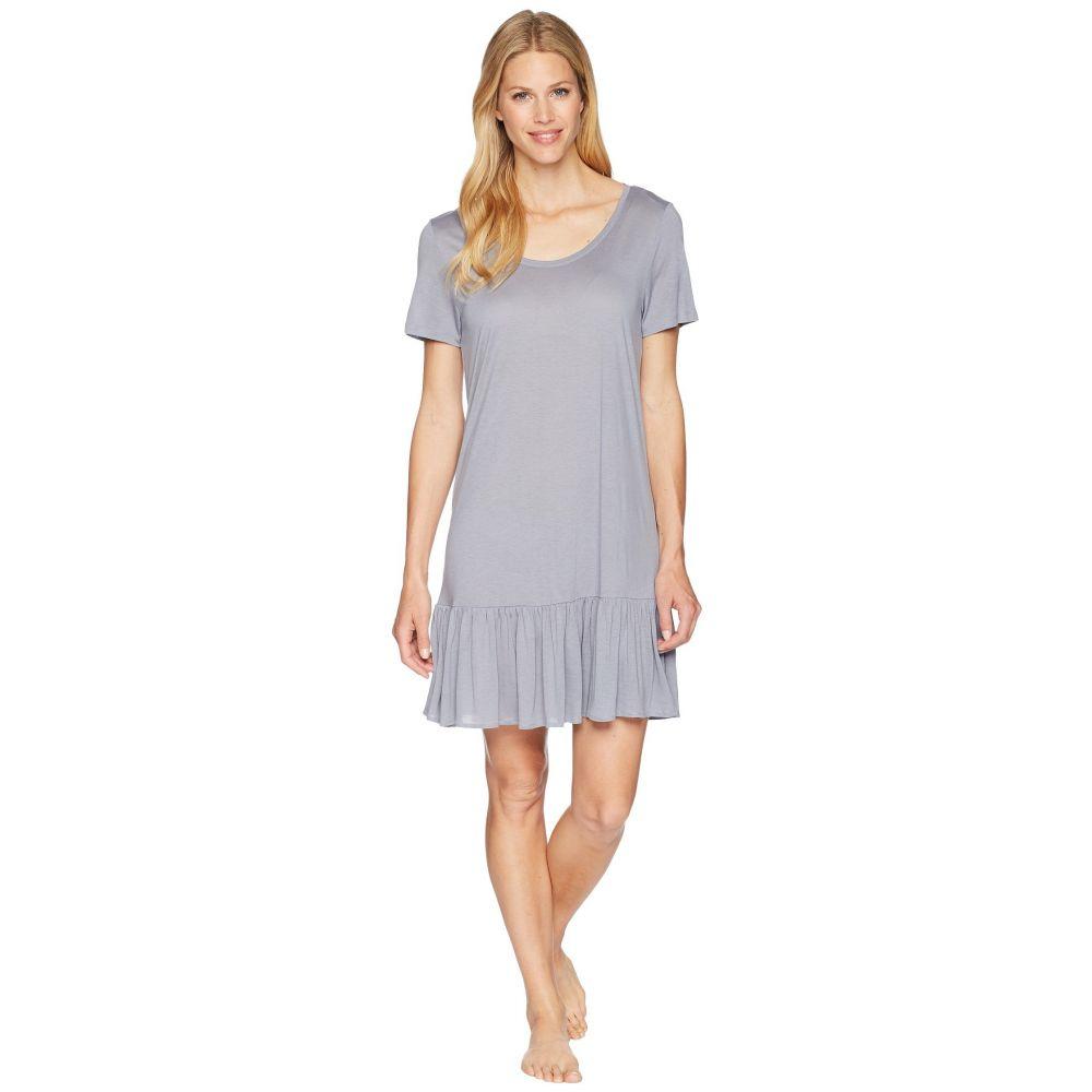 ハンロ Hanro レディース インナー・下着 パジャマ・トップのみ【Malva Short Sleeve Gown】Lilac Grey