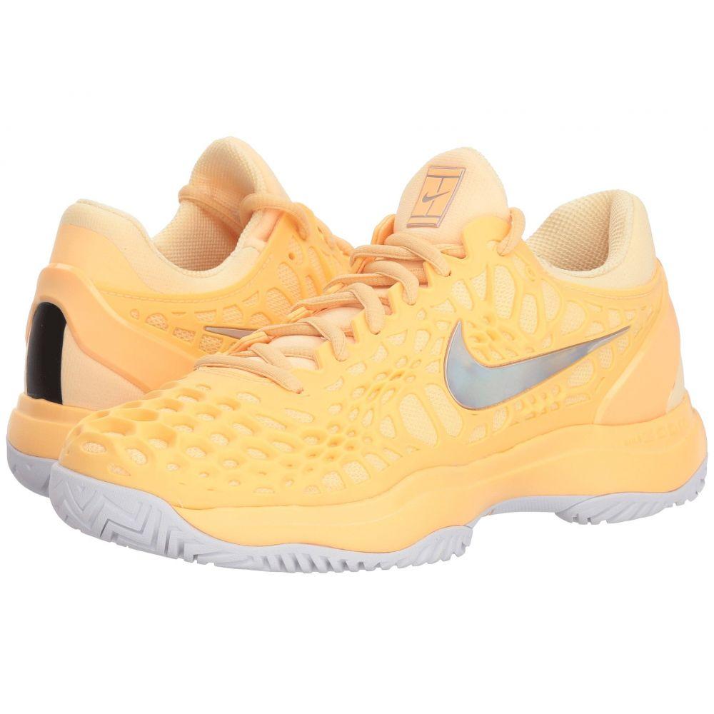 ナイキ Nike レディース テニス シューズ・靴【Zoom Cage 3 HC】Tangerine Tint/Metallic Silver/White